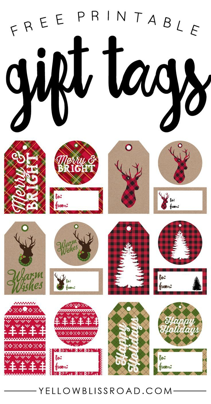 Free Printable Rustic And Plaid Gift Tags   Best Of Pinterest - Free Printable Favor Tags