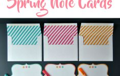 Free Printable Spring Note Cards With Lined Envelopes – Simple Made – Free Printable Note Cards