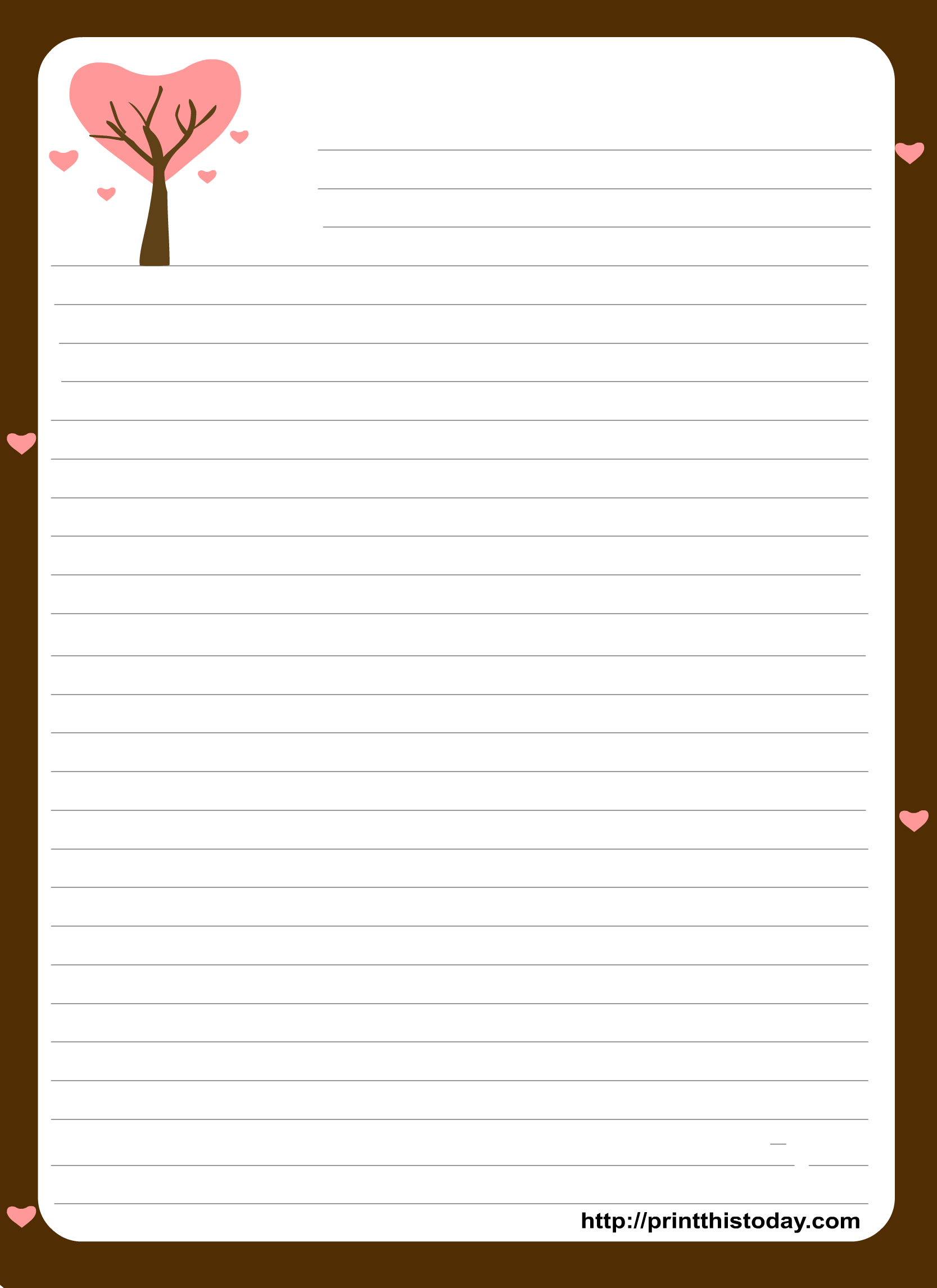 Free Printable Stationery Paper   Free Printable Stationary With - Free Printable Stationery Writing Paper