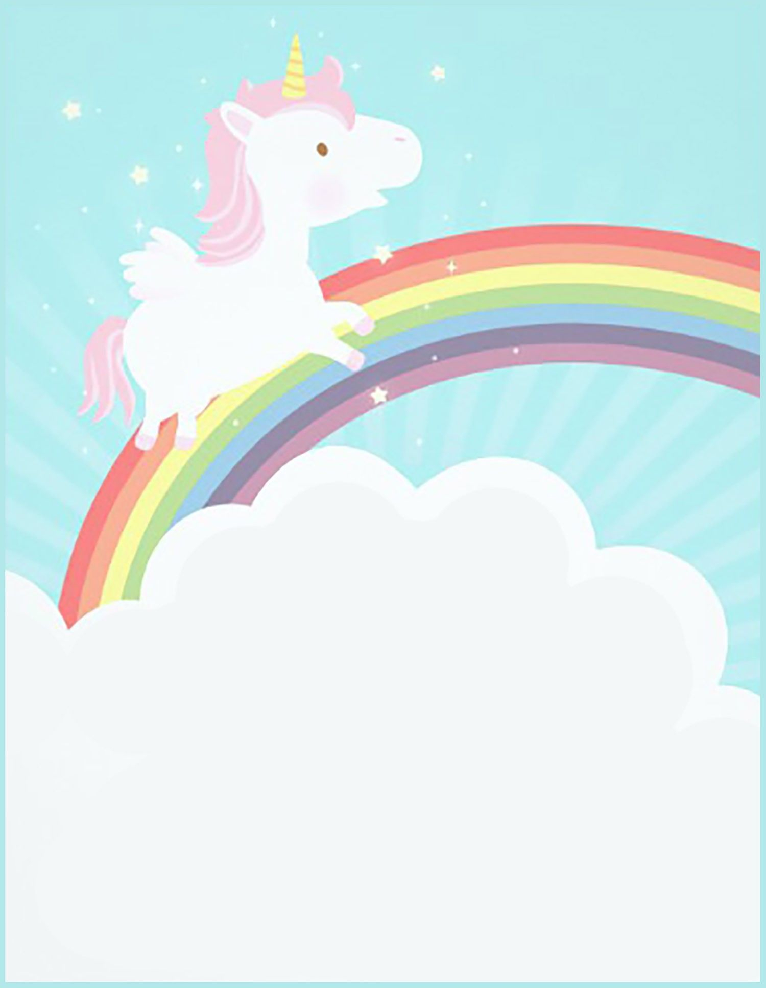 Free Printable Unicorn Invitation Card | Unicorn | Unicorn - Free Printable Unicorn Invitations