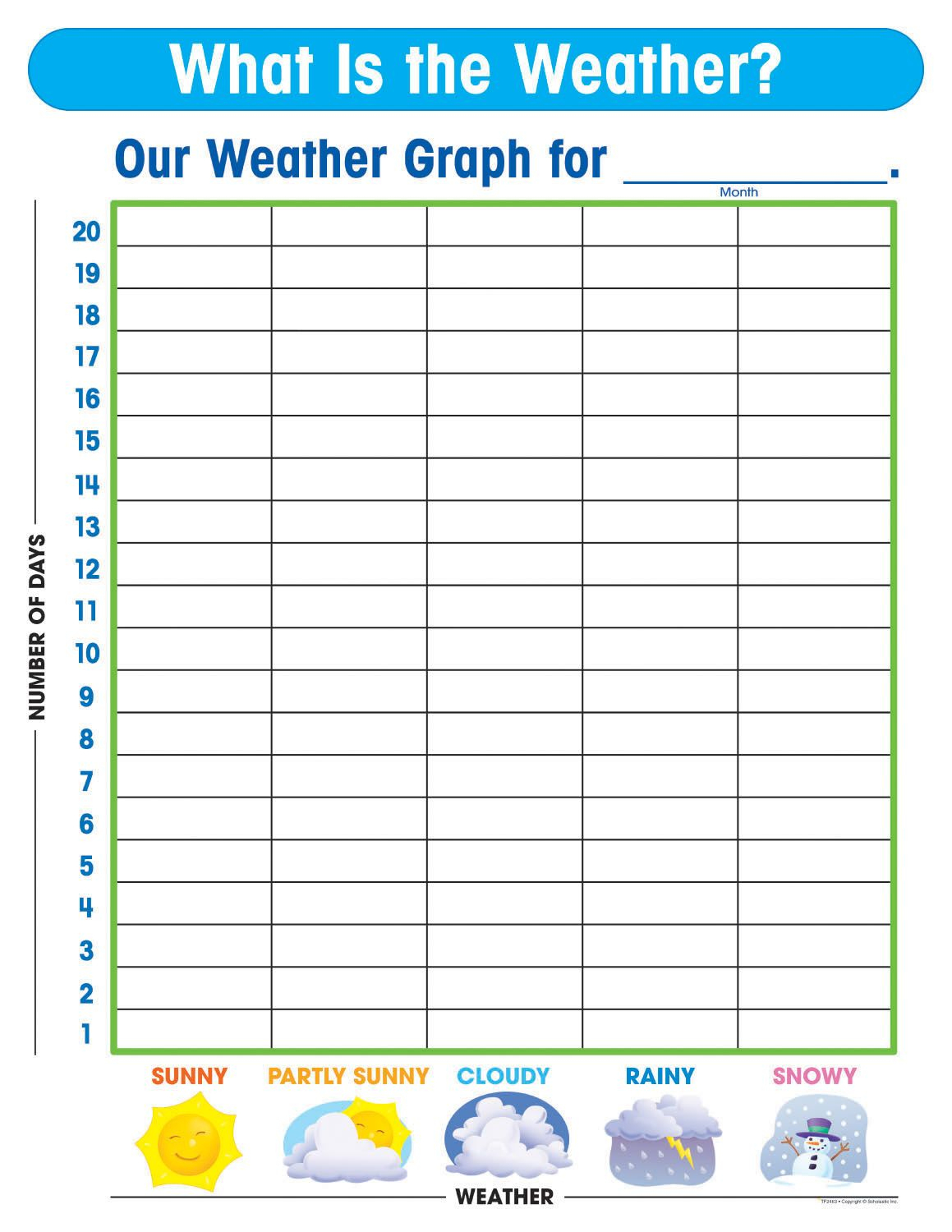 Free Printable Weather Graphs For Kindergarten - Free Printable Weather Chart For Preschool