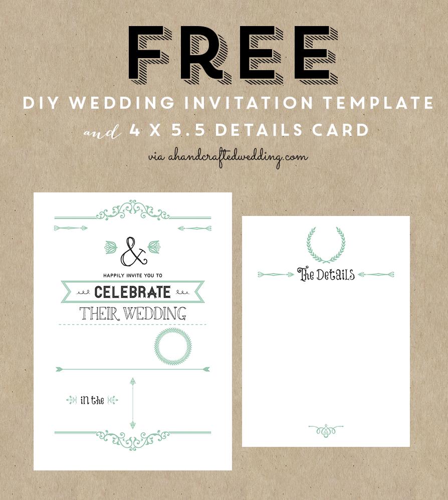 Free Printable Wedding Invitation Template | ** All Things Wedding - Free Printable Wedding Invitation Templates