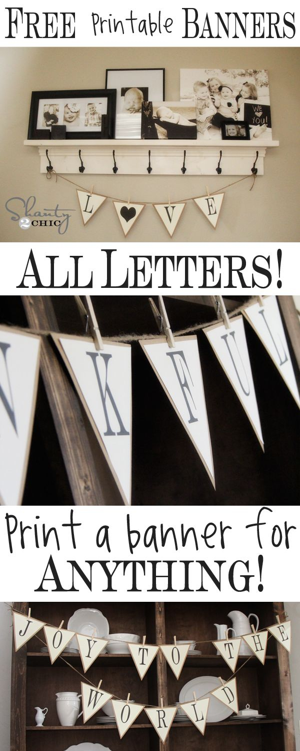 Free Printable – Whole Alphabet Banner!!   D.i.y Projects I May Or - Free Printable Welcome Banner Template