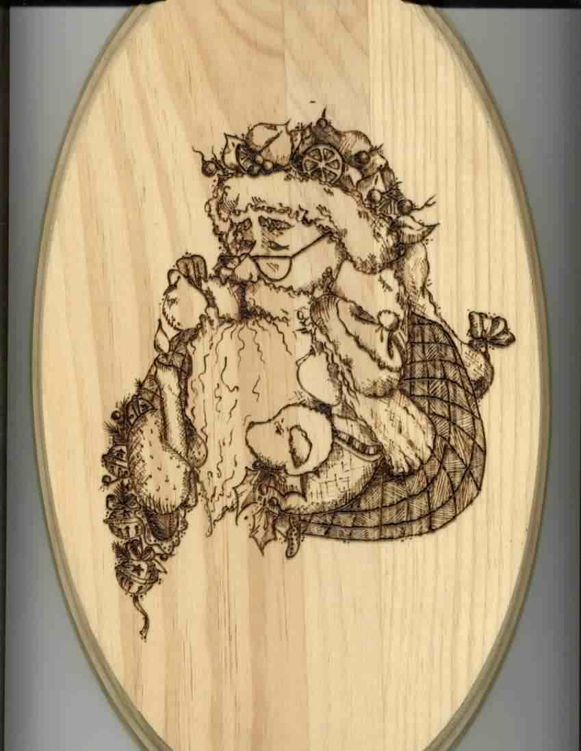 Free Printable Wood-Burning Patterns | Sue's Santa Woodburning - Free Printable Pyrography Patterns