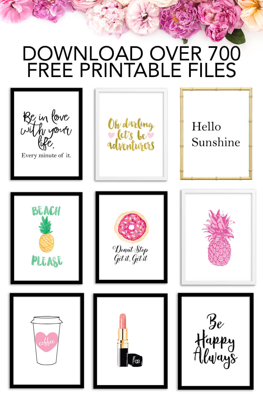 Free Printables - Download Over 700 Free Printable Files! - Chicfetti - Free Printable Images