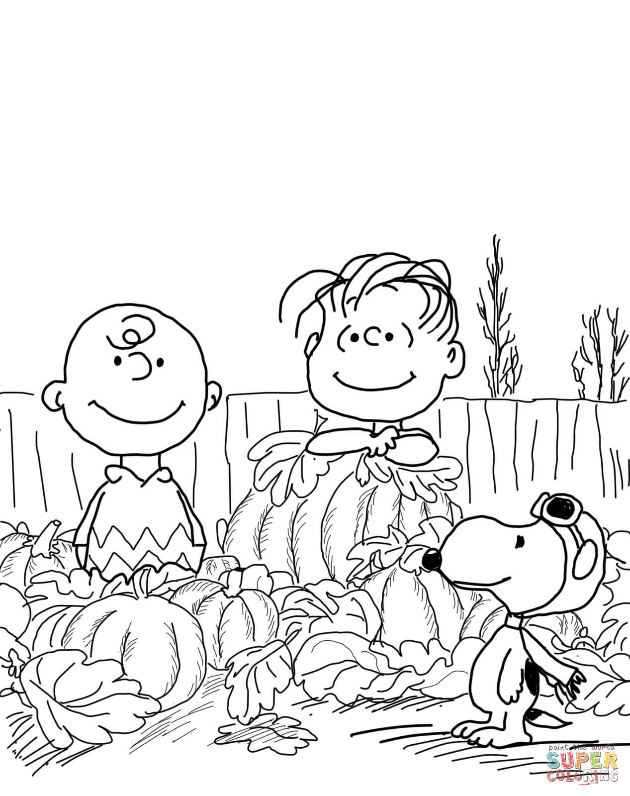 Great Pumpkin Charlie Brown Coloring Page | Free Printable Coloring - Free Printable Charlie Brown Halloween Coloring Pages