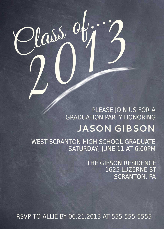 High School Graduation Party Menu | Printable Chalkboard Graduation - Free Printable Graduation Invitations 2014