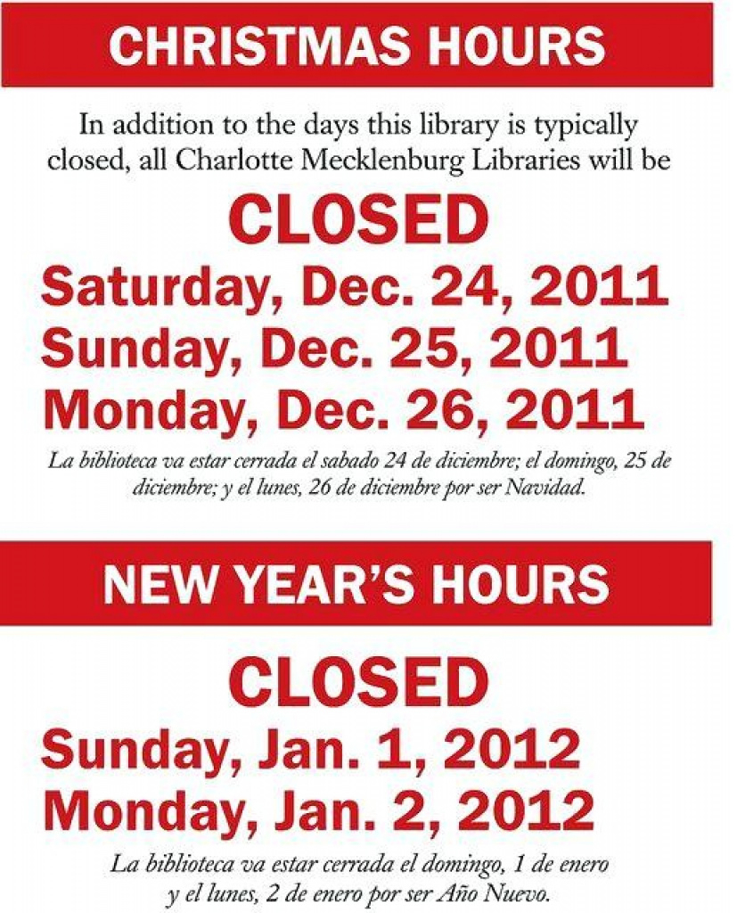 Holiday Closing Signs Templates | Template Business For Free - Free Printable Holiday Signs Closed