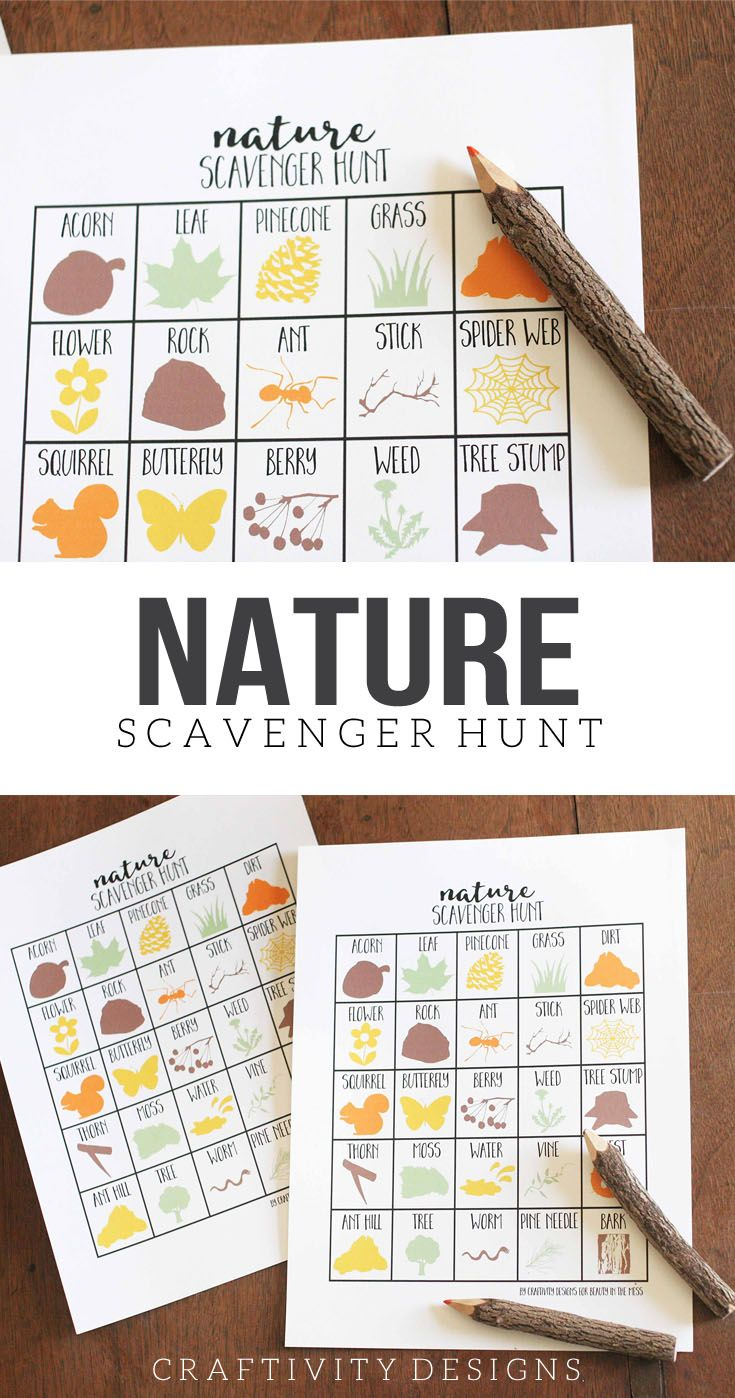 How To Take A Nature Scavenger Hunt {Free Printable!} | Best Of The - Free Printable Scavenger Hunt For Kids