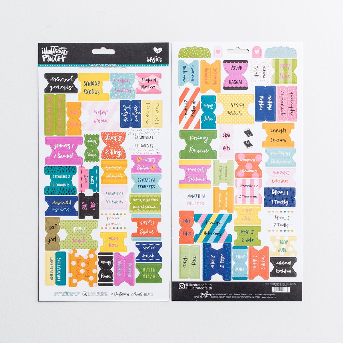 Illustrated Faith - Books Of The Bible Tabs, Colorful   Dayspring - Free Printable Books Of The Bible Tabs