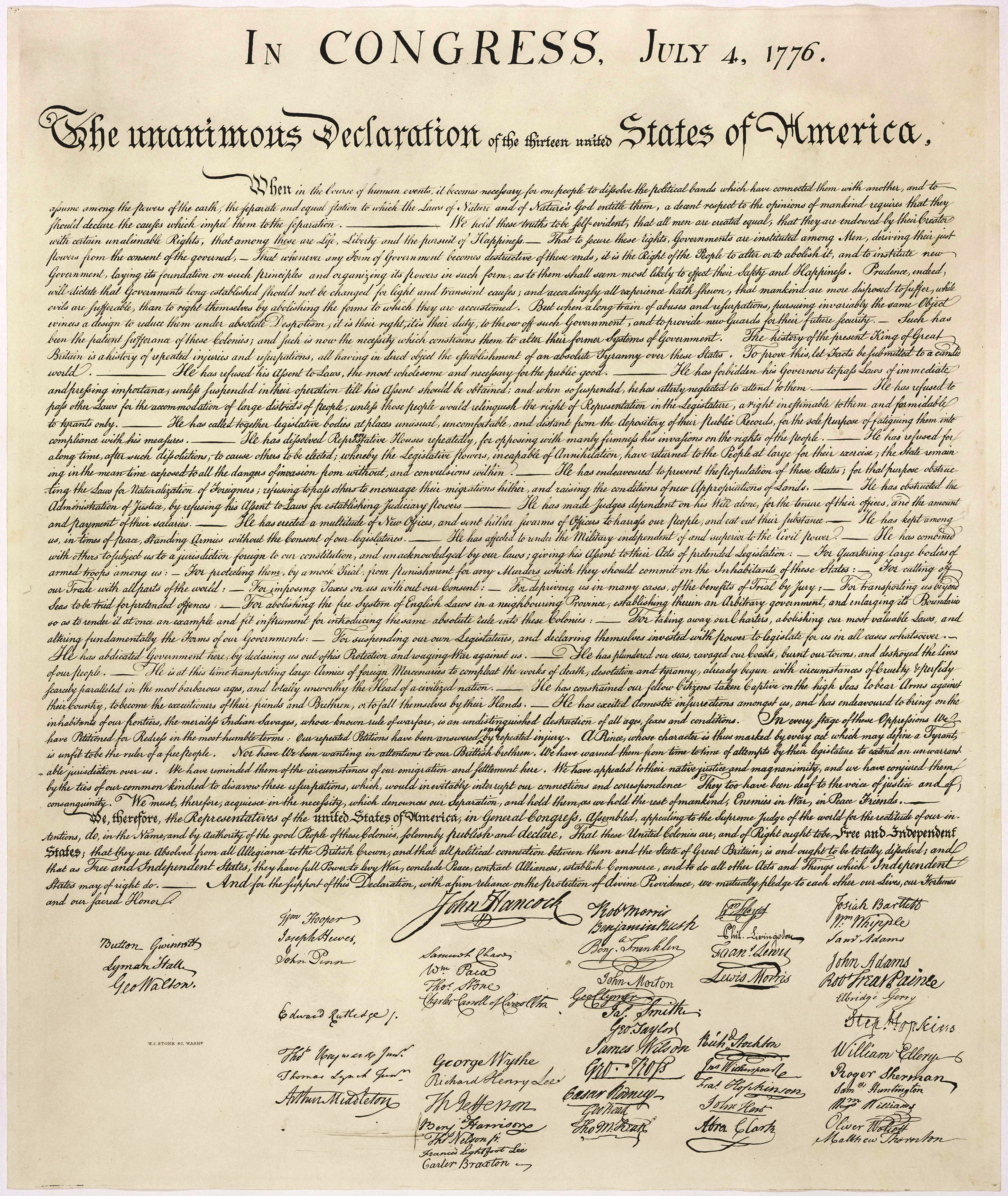 Images Of The Declaration   Thomas Jefferson's Monticello - Free Printable Copy Of The Declaration Of Independence