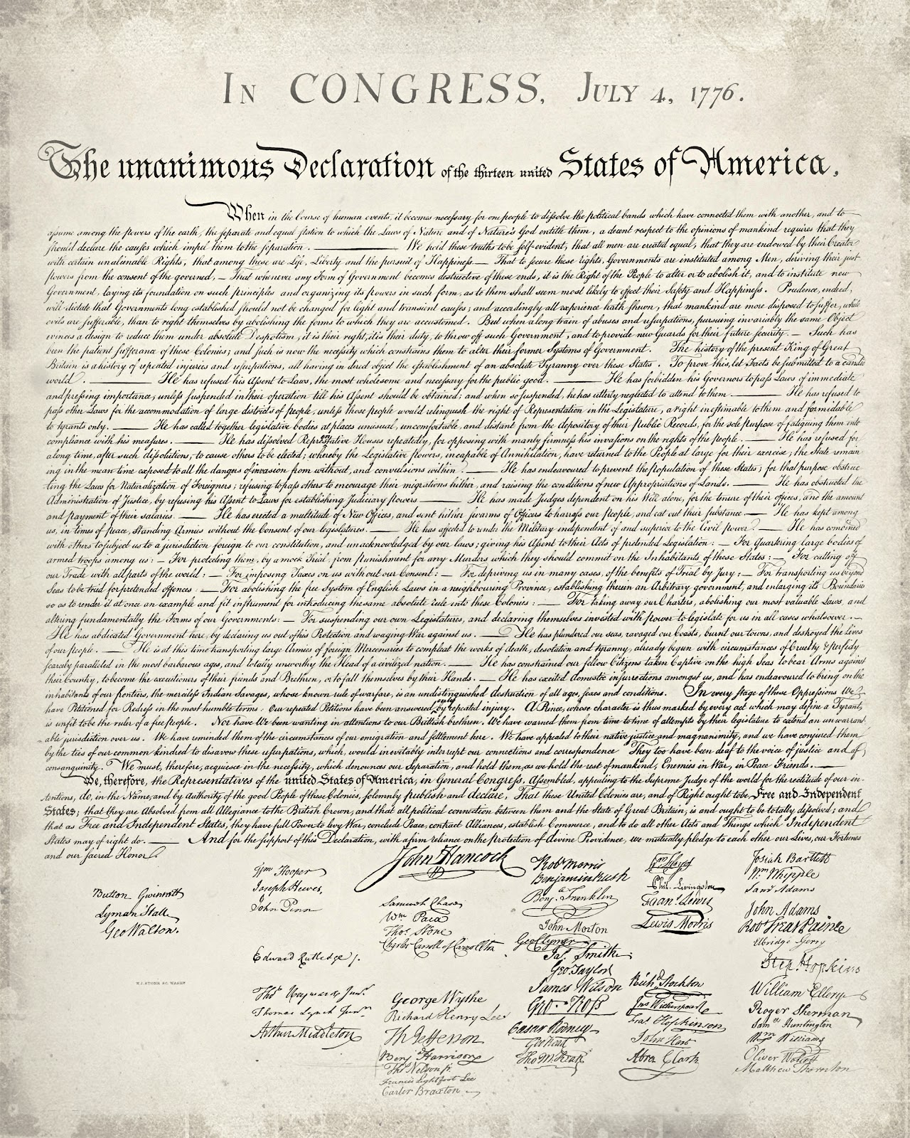 Just Sweet And Simple: Free Printable United States Declaration Of - Free Printable Copy Of The Declaration Of Independence