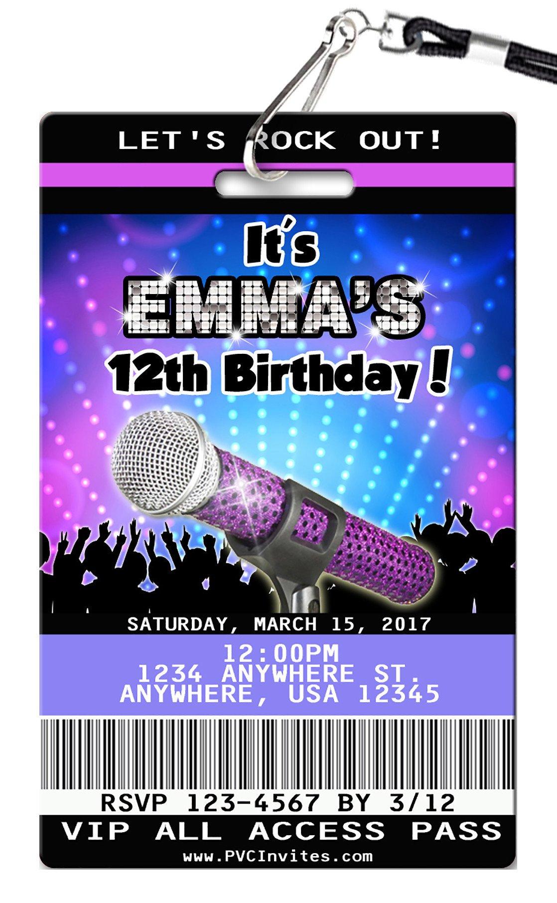 Karaoke Birthday Invitation In 2019 | Kenzi's 8Th Kareoke Birthday - Free Printable Karaoke Party Invitations