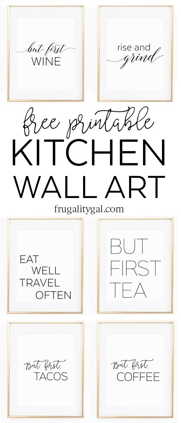 Kitchen Gallery Wall Printables | Free Printable Wall Art - Free Printable Wall Art Decor