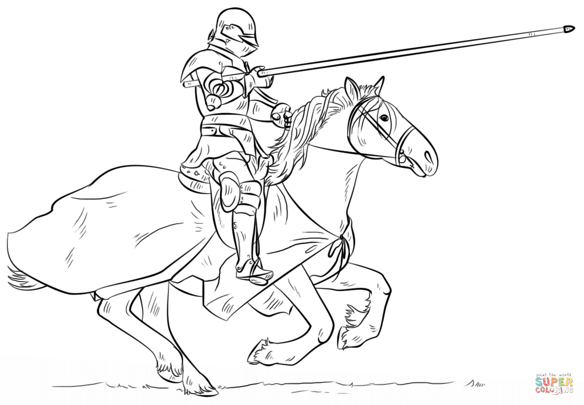 Knight On Horse Coloring Page | Free Printable Coloring Pages - Free Printable Pictures Of Knights