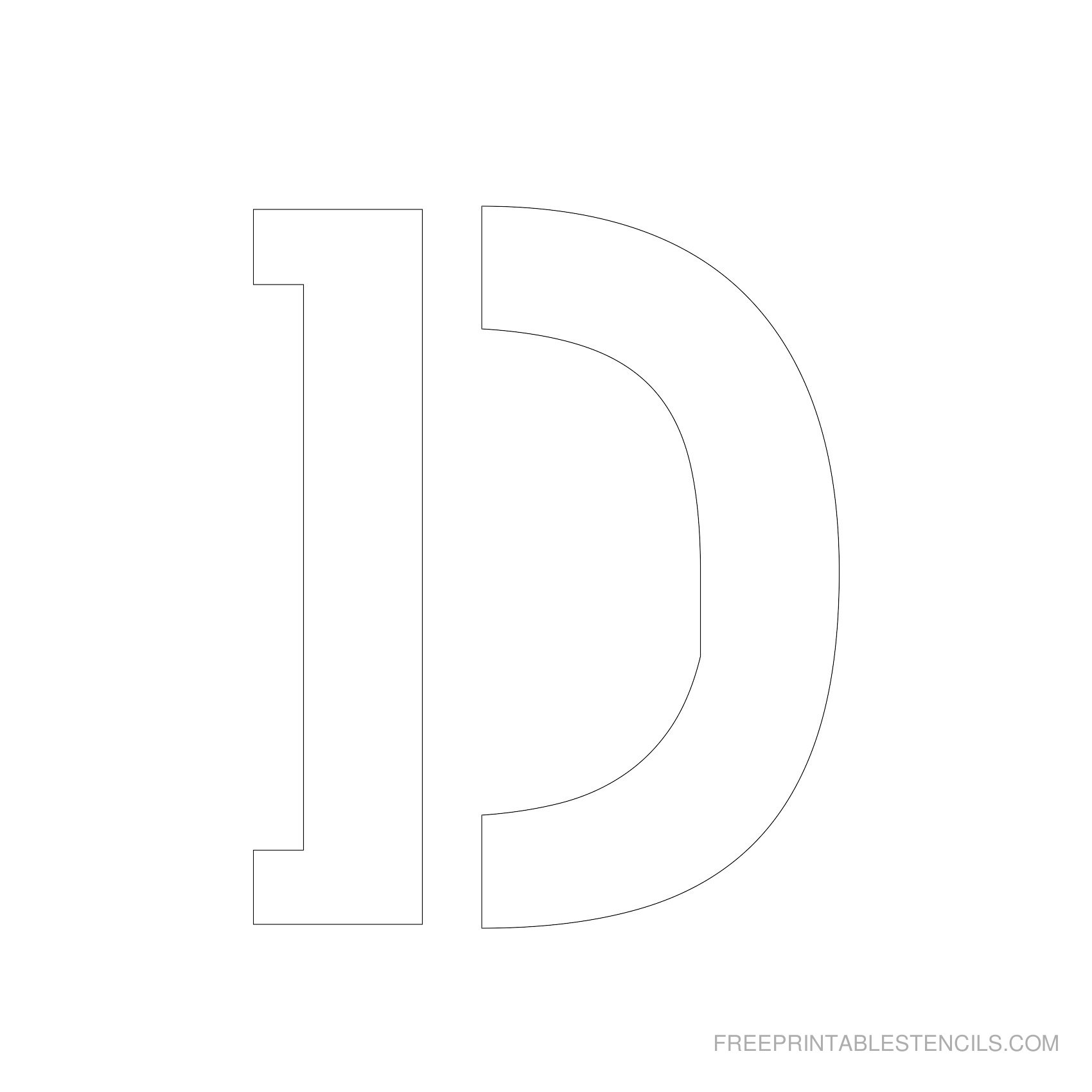 Letter Stencils To Print   Free Printable Stencils - Free Printable Letter Stencils