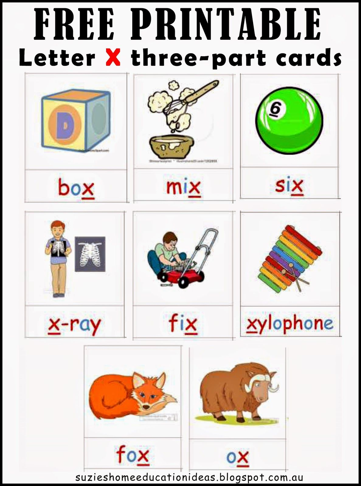 Letter X - Printable Cards And Activity Ideas | Classroom Activities - Free Printable Cause And Effect Picture Cards
