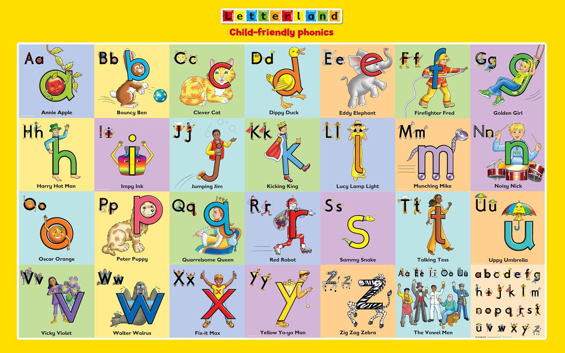 Letterland Characters   Letterland ~ Pre-K   Pinterest   Phonics - Letterland Worksheets Free Printable