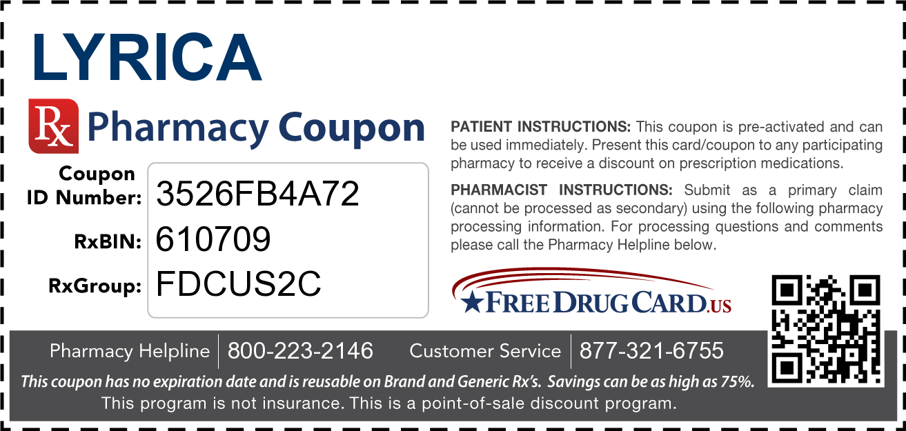 Lyrica Coupon - Free Prescription Savings At Pharmacies Nationwide - Free Printable Prescription Coupons