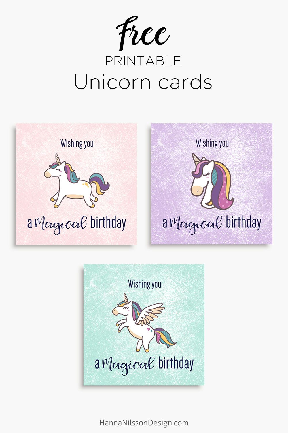 Magical Unicorn Birthday Printable Cards | Tis' Better To Give - Free Printable Easter Cards For Grandchildren