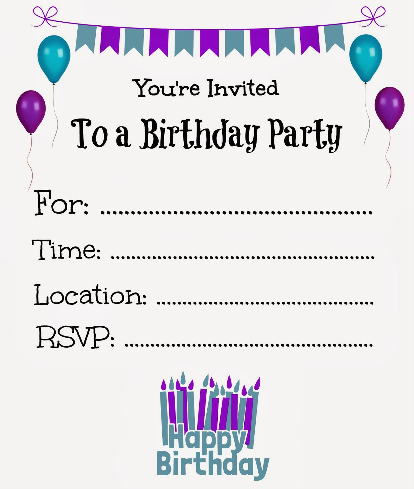 Make Your Own Birthday Invitations Online Free Printable Birthday - Make Your Own Birthday Party Invitations Free Printable