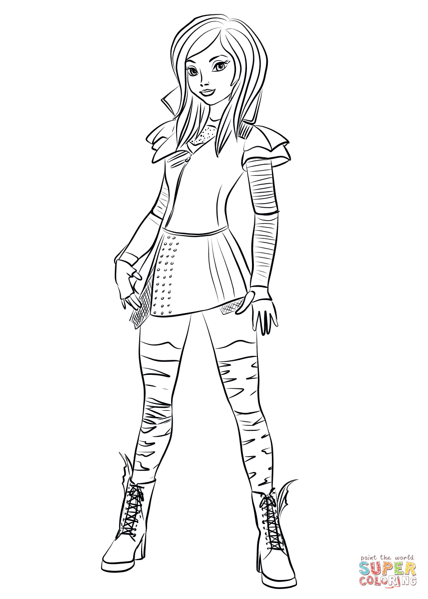Mal Coloring Pages   Mal From Descendants Coloring Page   Free - Free Printable Descendants Coloring Pages