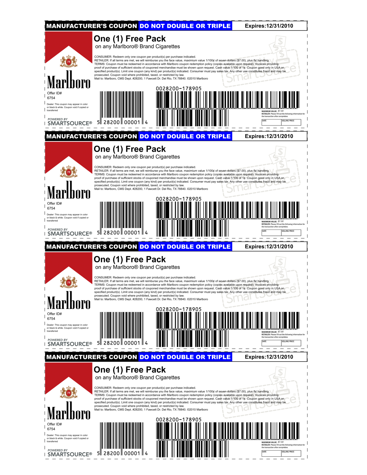 Marlboro Coupons Printable 2013   Is Using A Possibly Fake Coupon - Free Printable Coupons Without Coupon Printer