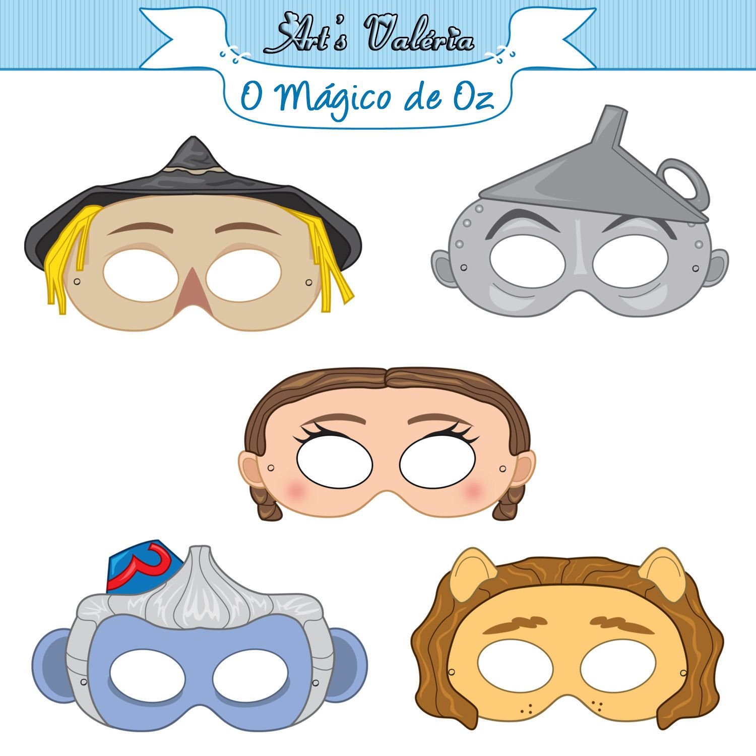 Mascáras Mágoco De Oz - Pesquisa Google | Wizard Of Oz | Pinterest - Free Printable Wizard Of Oz Masks