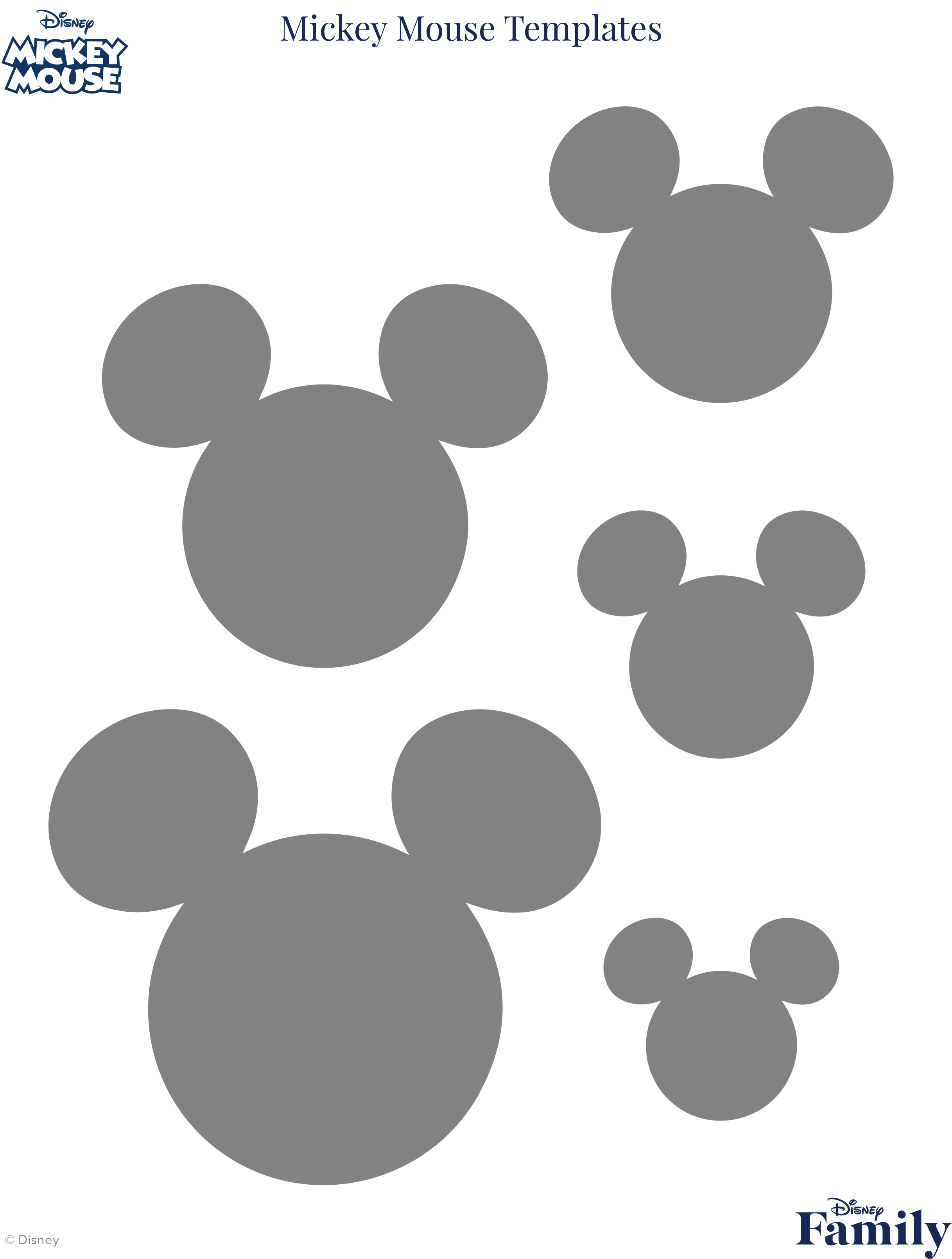 Mickey Mouse Template | Disney Family - Free Printable Mickey Mouse Template