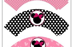 Free Printable Minnie Mouse Cupcake Wrappers