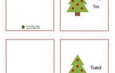 Christmas Thank You Cards Printable Free