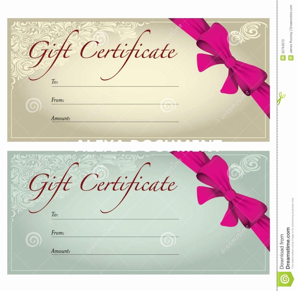 Mother's Day Gift Certificate Templates Certificates Free Printable - Free Printable Gift Certificates For Hair Salon
