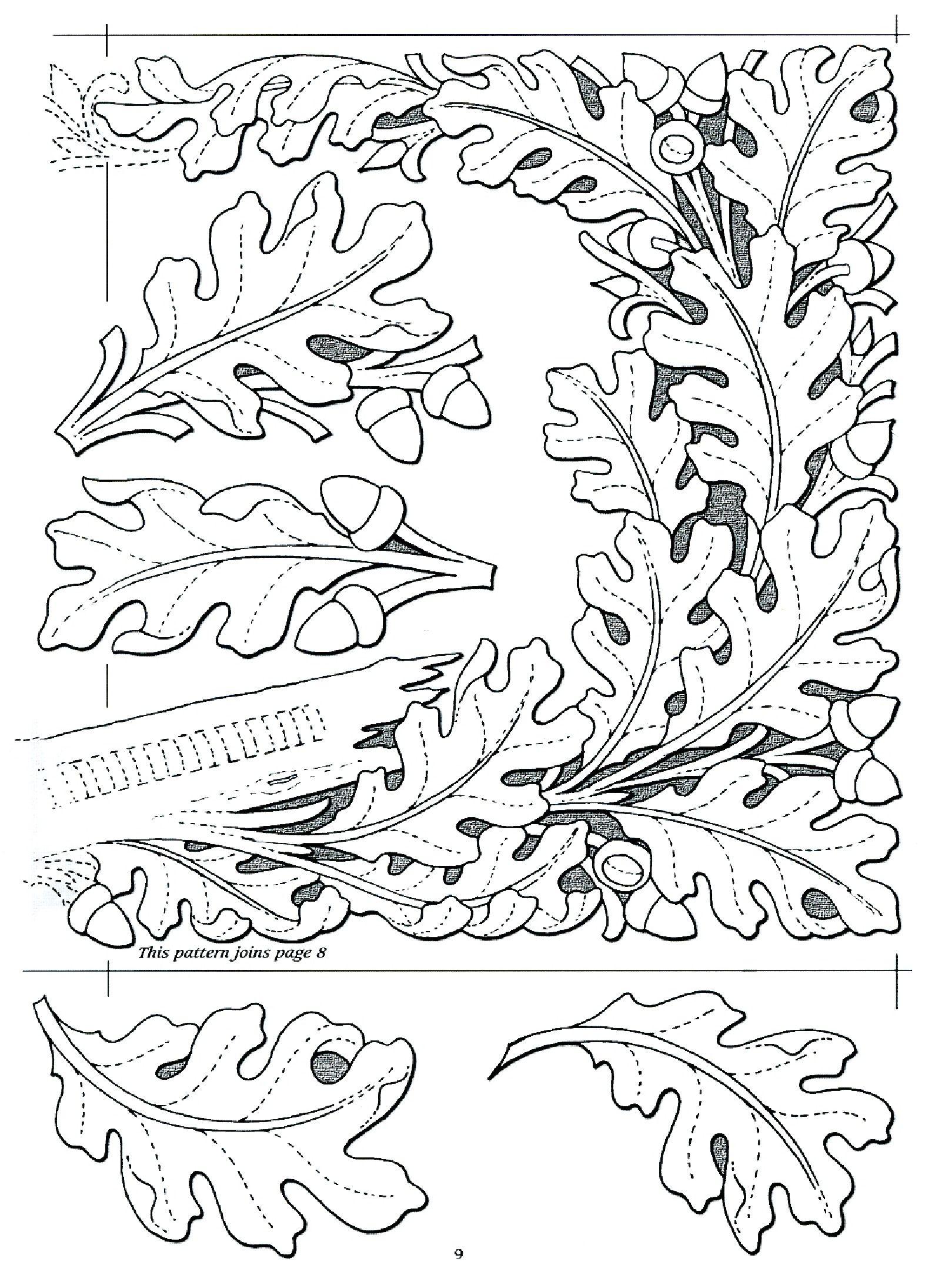 Oak Leaf Design … | Diy And Crafts | Pinte… - Free Printable Oak Leaf Patterns
