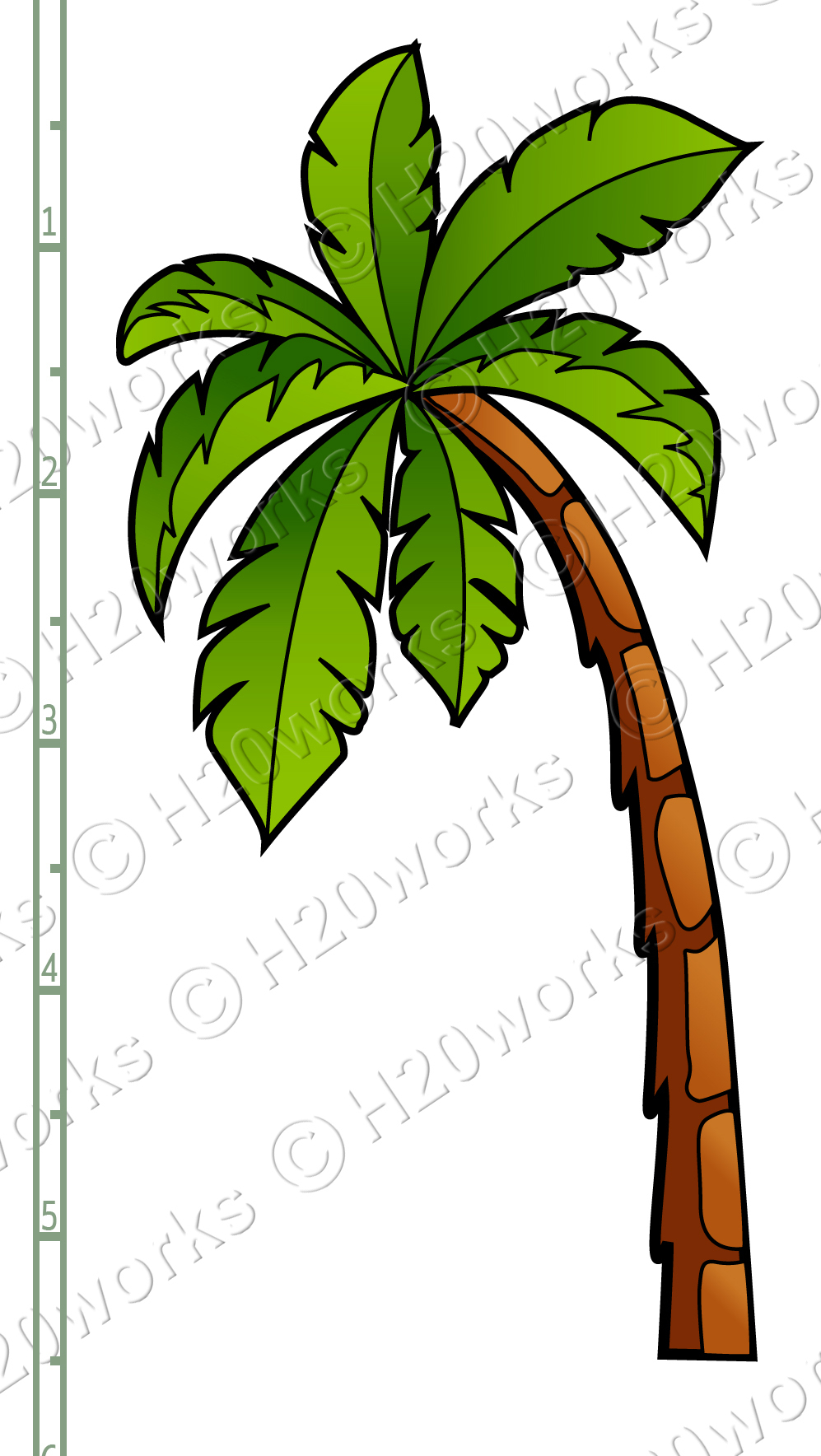 Palm Tree Printable Clipart - Free Printable Palm Tree Template