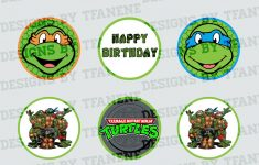 Free Printable Teenage Mutant Ninja Turtle Cupcake Toppers