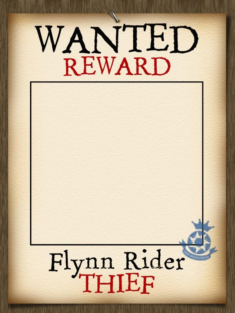 Photo Frame - Add Your Own Name - Wanted Poster - Tangled - Free Printable Flynn Rider Wanted Poster
