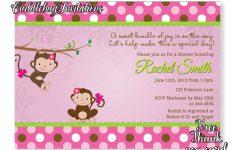 Free Printable Monkey Girl Baby Shower Invitations