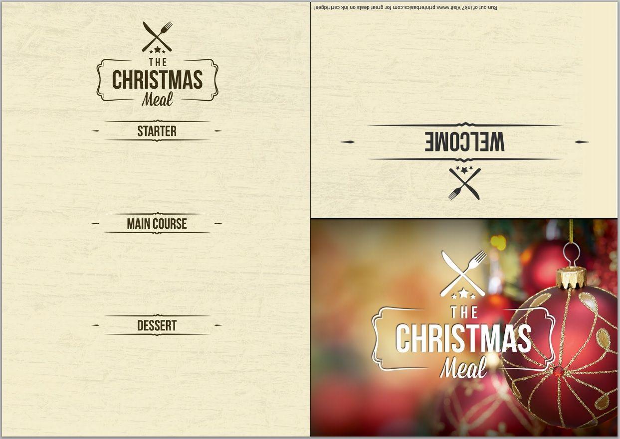 Pinmaria On Christmas | Pinterest | Menu Template, Printable - Free Printable Christmas Dinner Menu Template