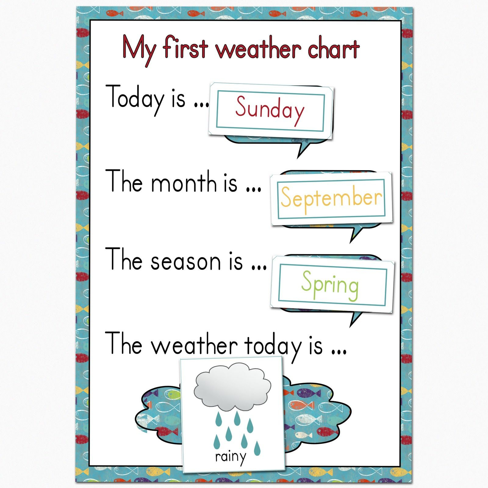 Preschool Weather Chart | Plan To Keep Mine On The Fridge, And Use - Free Printable Weather Chart For Preschool