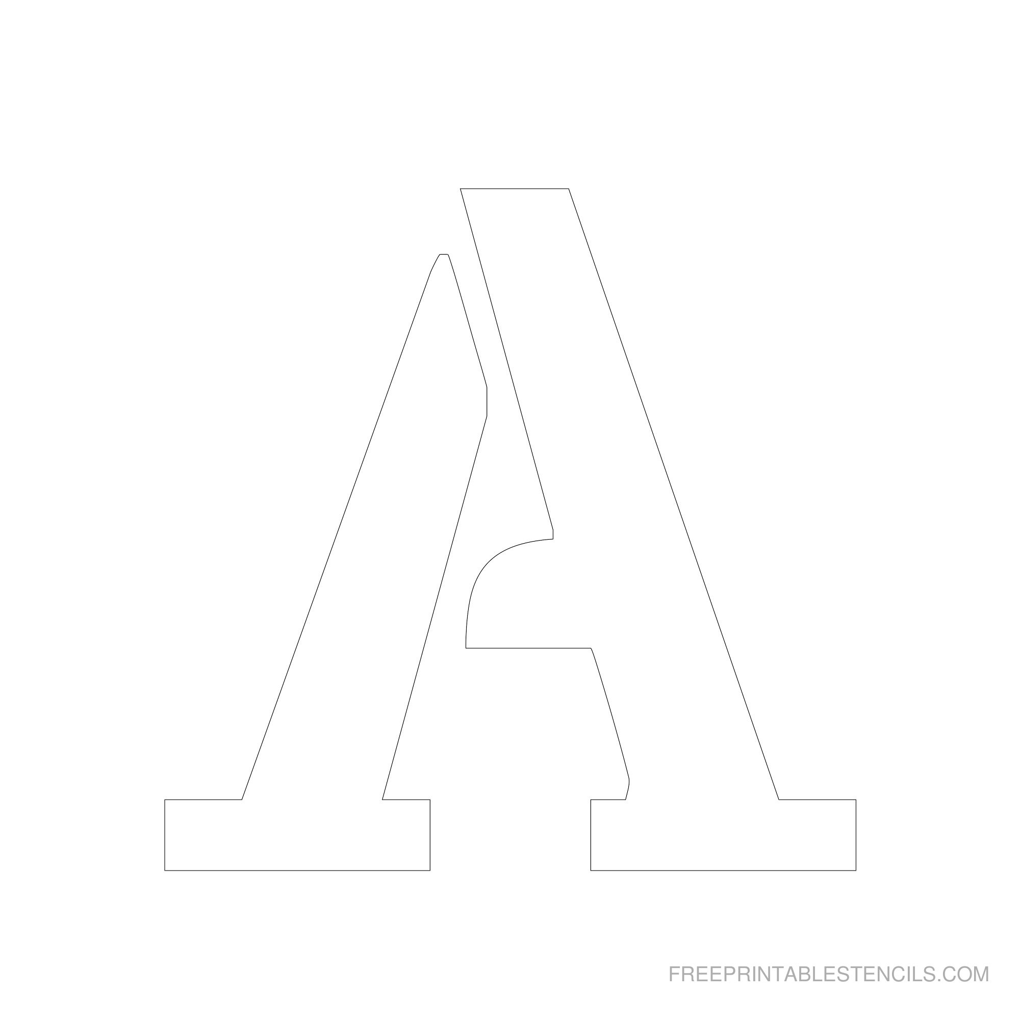 Printable 6 Inch Letter Stencils A-Z   Free Printable Stencils - Free Printable Letter Stencils