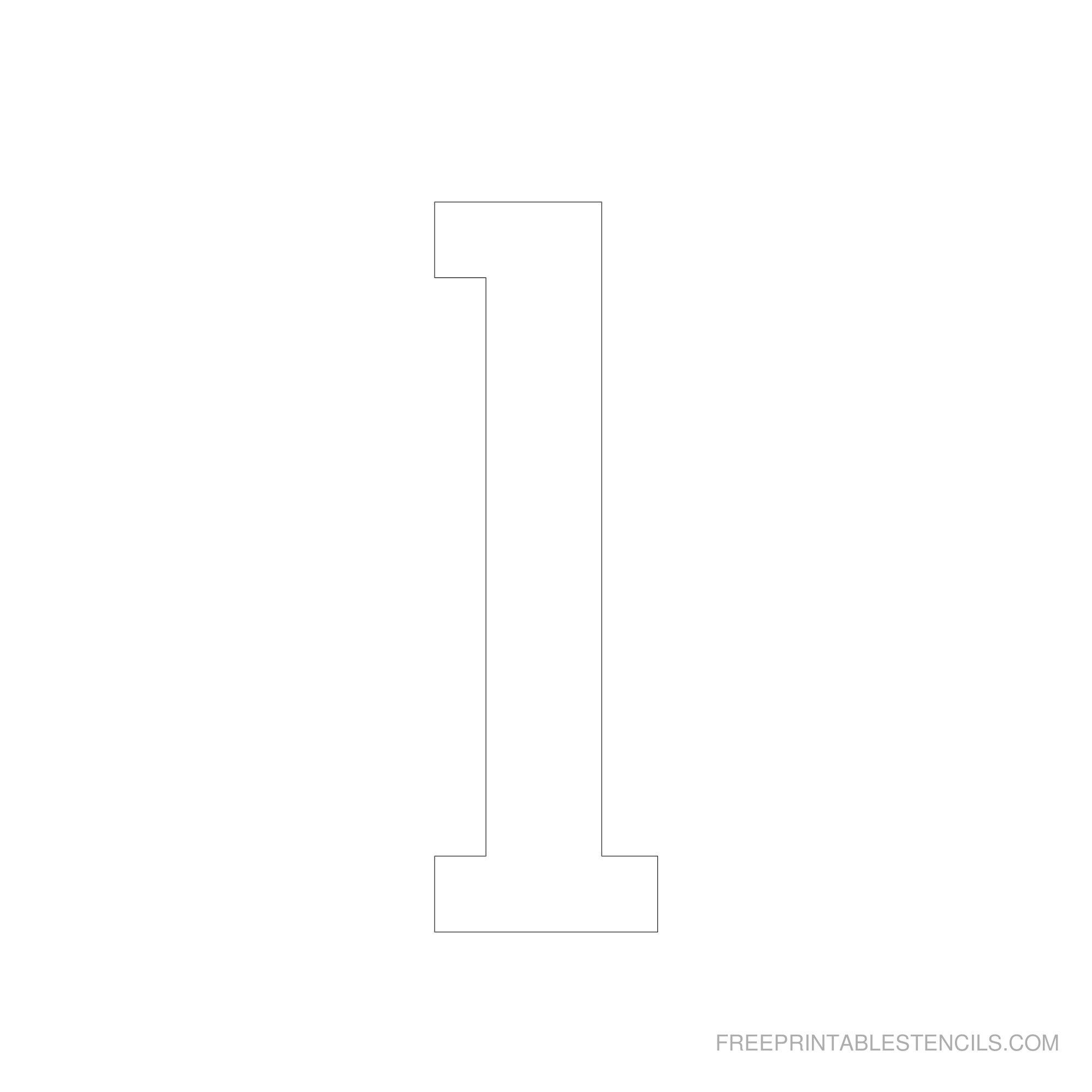 Printable 6 Inch Number Stencils 1-10 | Free Printable Stencils - Free Printable Fancy Number Stencils