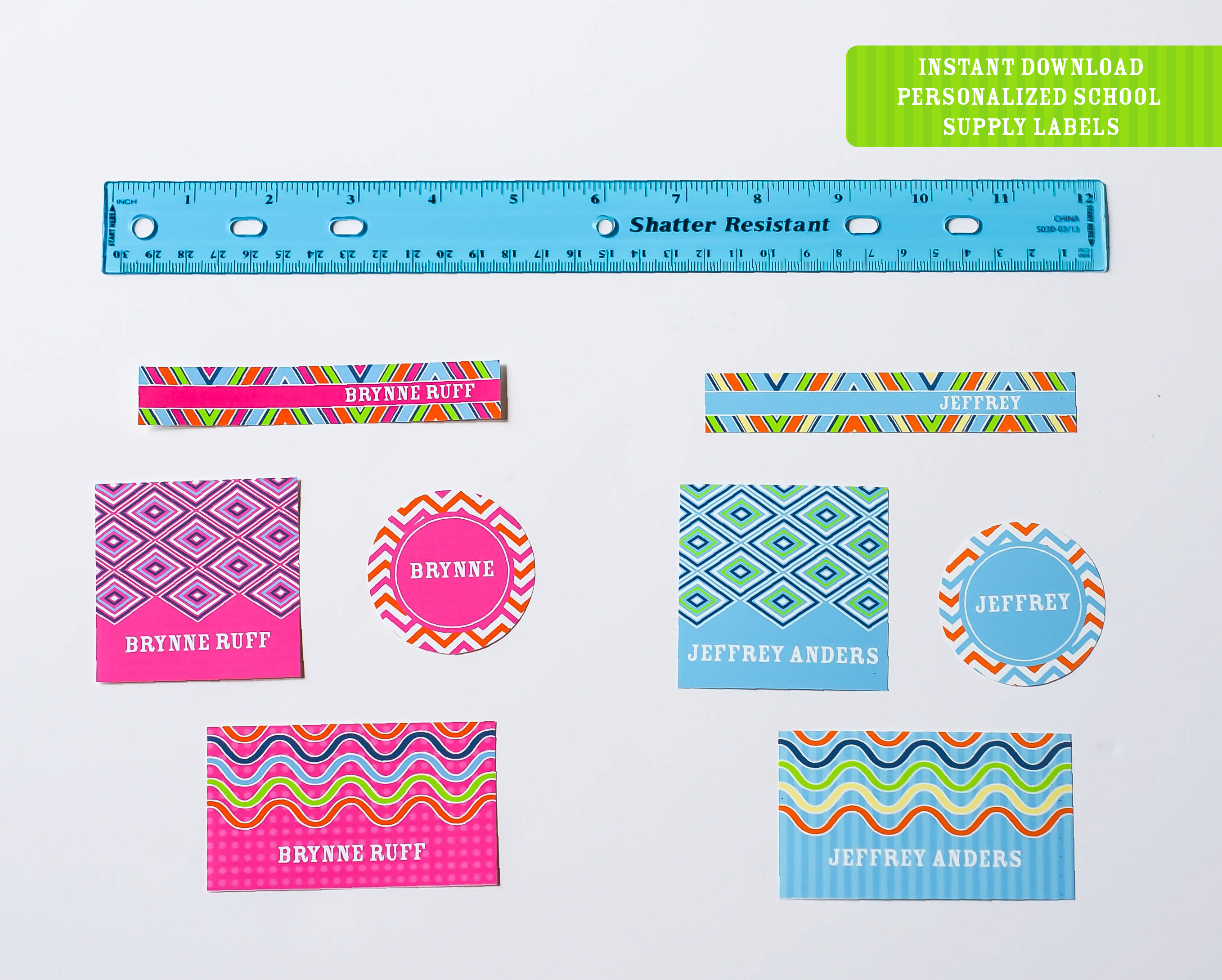 Printable Back To School Labels Round Up (+ Freebie!) - Anders Ruff - Free Customized Name Tags Printable