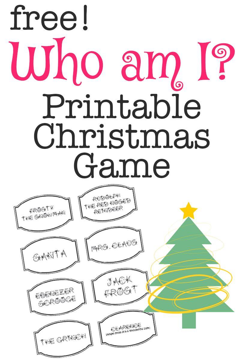 Printable Christmas Game: Who Am I?   Bloggers' Best Diy Ideas - Free Printable Christmas Games For Adults