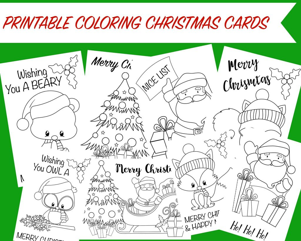 Printable Coloring Christmas Cards -Wunder-Mom - Free Printable Christmas Cards To Color