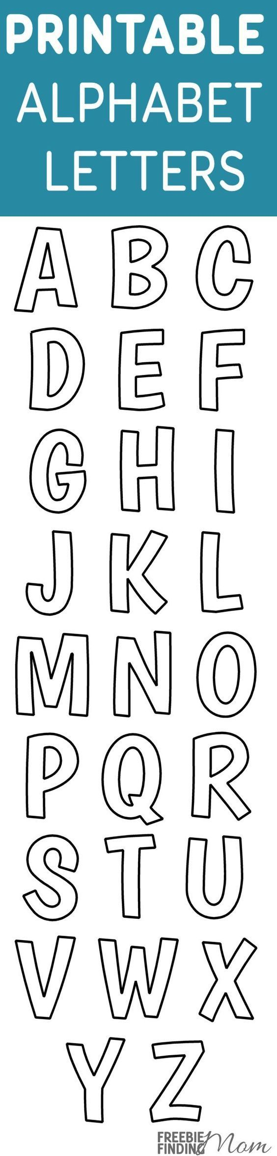 Printable Free Alphabet Templates   The Group Board On Pinterest - Free Printable Letter Stencils