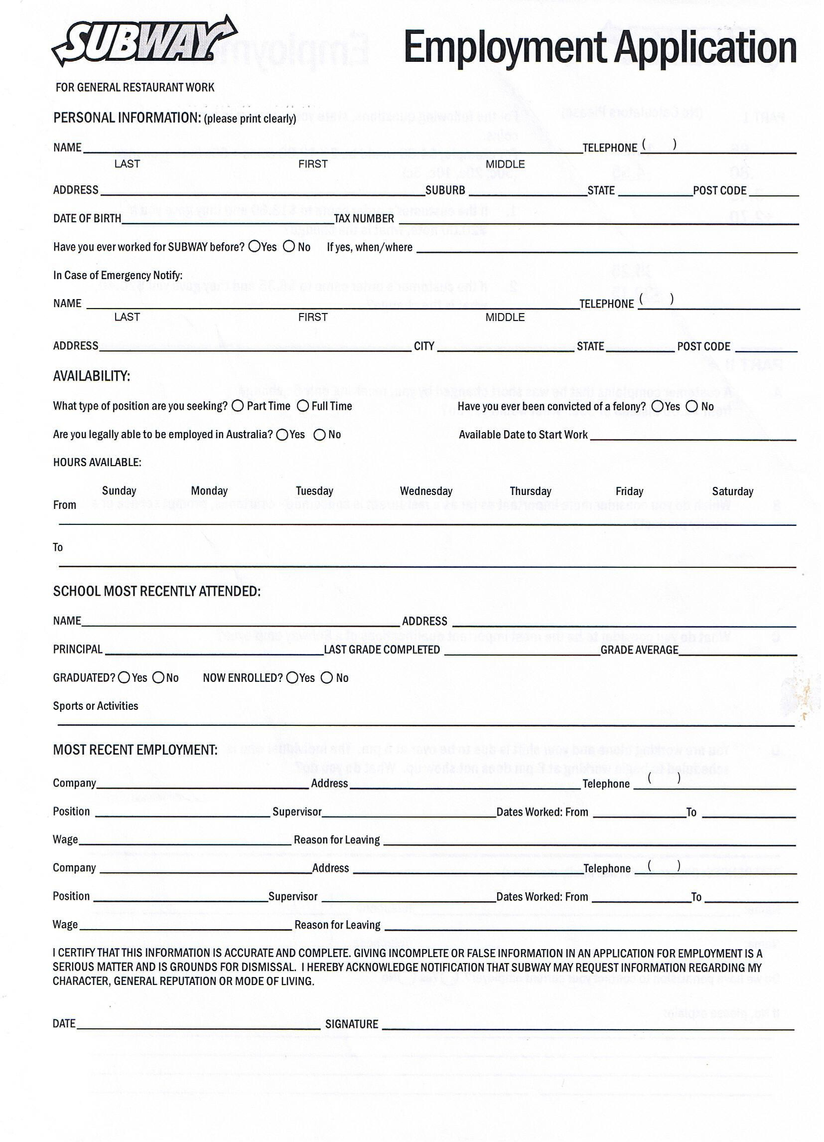 Printable Job Application Forms Online Forms, Download And Print - Free Printable Job Applications Online
