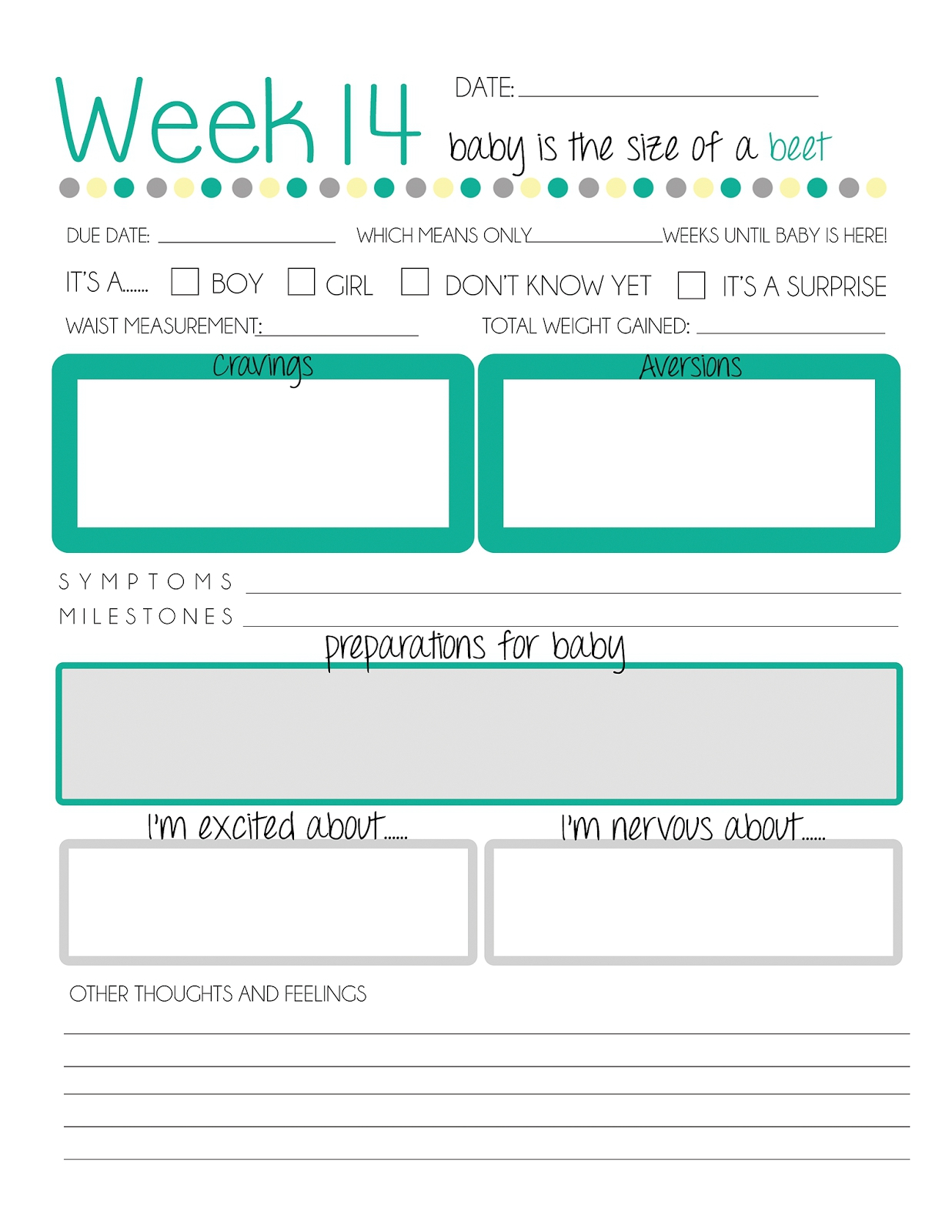 Printable Pregnancy Journal | Online Calendar Templates - Free Printable Baby Journal Pages