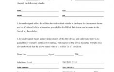Free Printable Automobile Bill Of Sale Template