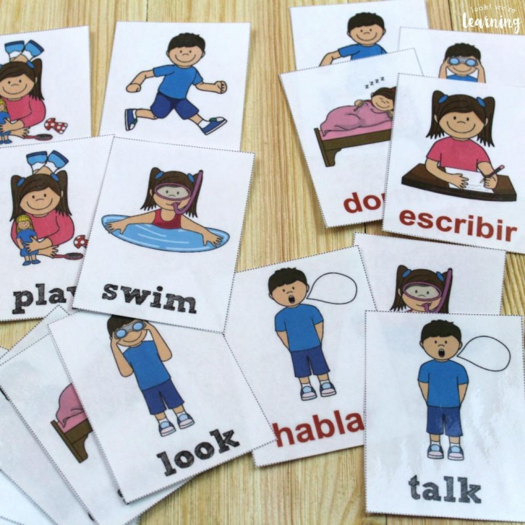 Printable Spanish Flashcards: Spanish Verb Flashcards Intended For - Free Printable Spanish Verb Flashcards