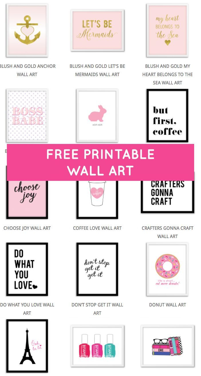 Printable Wall Art - Print Wall Decor And Poster Prints For Your - Free Printable Wall Art Decor